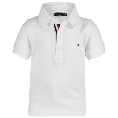 Picture of Tommy Hilfiger KB0KB04527 B baby poloshirt white