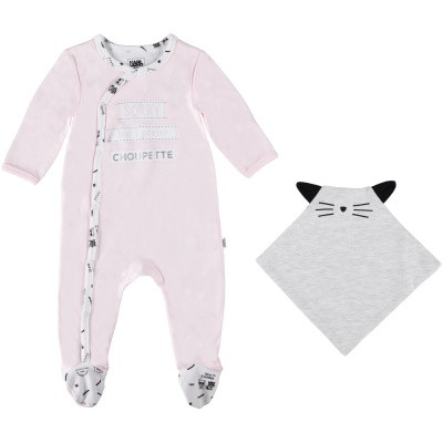 Picture of Karl Lagerfeld Z98042M baby playsuit light pink