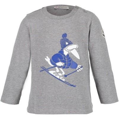 Afbeelding van Moncler 8022150 baby t-shirt grijs