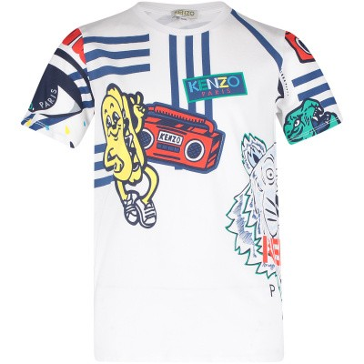 Picture of Kenzo KN10518 kids t-shirt white