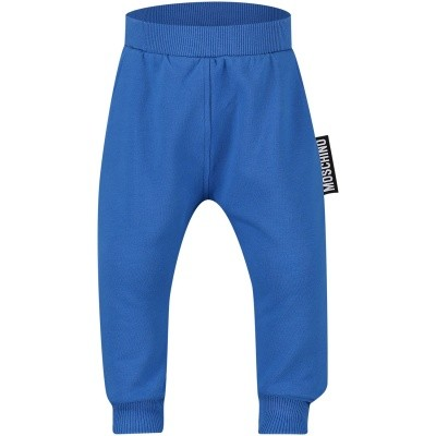 Picture of Moschino MUP02O baby pants cobalt blue