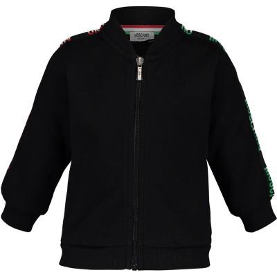 Picture of Moschino MUF02U baby vest black