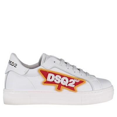 Afbeelding van Dsquared2 59840 kindersneakers wit