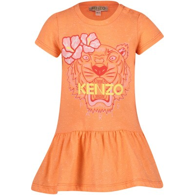 Picture of Kenzo KN30148BB baby dress salmon