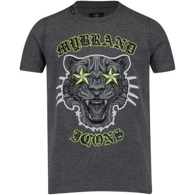 Afbeelding van My Brand BMBTS001GM001 kinder t-shirt grijs