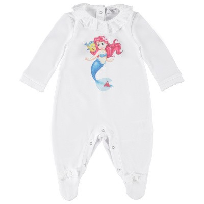 Picture of MonnaLisa 353215PB baby playsuit white