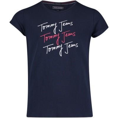 Afbeelding van Tommy Hilfiger KG0KG03634 kinder t-shirt navy
