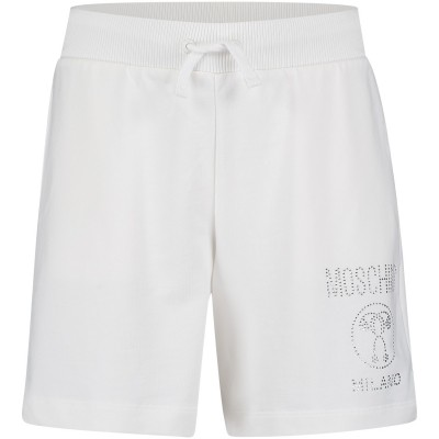 Afbeelding van Moschino HDP02O kinder shorts off white