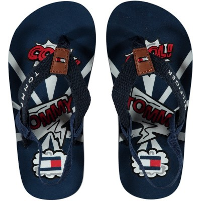 Picture of Tommy Hilfiger 30202 kids flipflops navy
