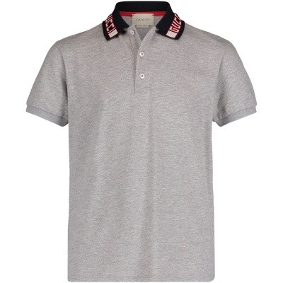 Picture of Gucci 522342 kids polo shirt grey