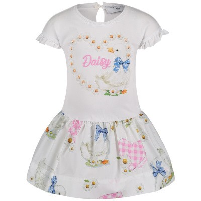 Picture of MonnaLisa 313911S5 baby dress white