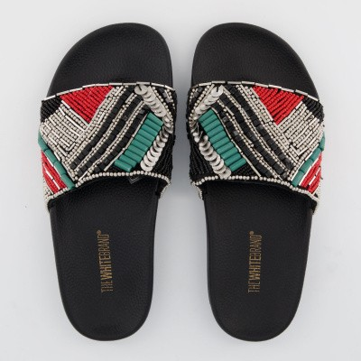 Picture of The White Brand L0360 womens flipflops black