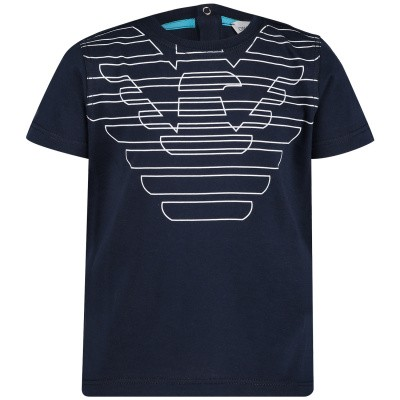 Picture of Armani 3GHD01 A baby shirt navy