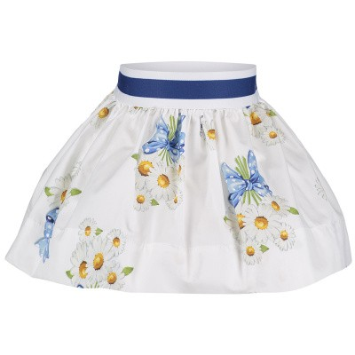 Picture of MonnaLisa 313705 baby skirt white