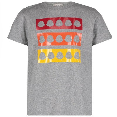Afbeelding van Moncler 8025950 kinder t-shirt grijs