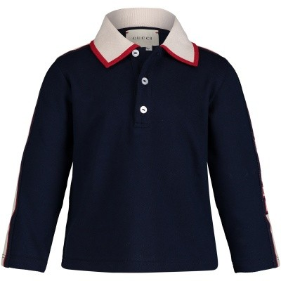 Picture of Gucci 522340 baby poloshirt navy