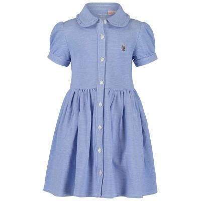 Picture of Ralph Lauren 734896 baby dress light blue