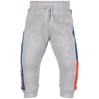 Picture of Kenzo KN23508BB baby pants light gray