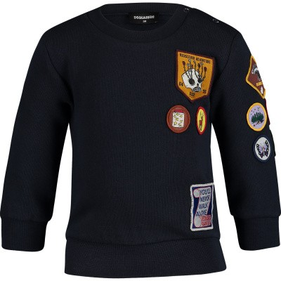 Picture of Dsquared2 DQ03FH baby sweater navy