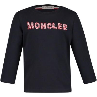 Afbeelding van Moncler 8022850 baby t-shirt navy