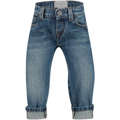 Afbeelding van Gucci 455454 babybroekje jeans