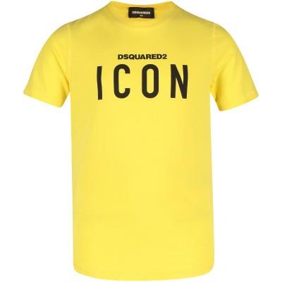 Afbeelding van Dsquared2 DQ02M8 kinder t-shirt geel