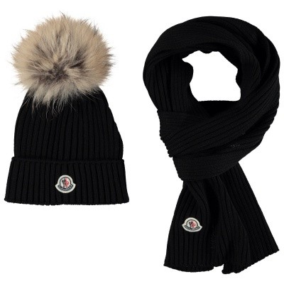 Picture of Moncler 0095106 kids hat black