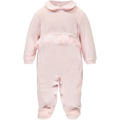Picture of Story Loris 16523 baby playsuit light pink