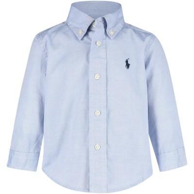 Picture of Ralph Lauren 320600259 baby blouse light blue