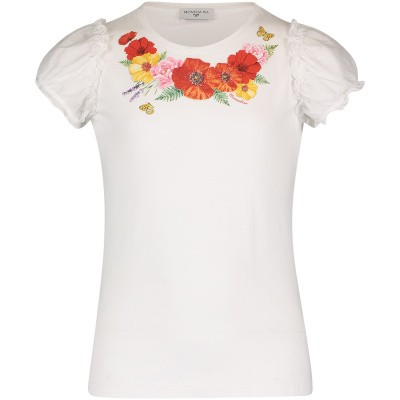 Picture of MonnaLisa 193616SP kids t-shirt white