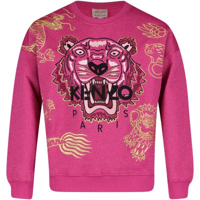 Picture of Kenzo KN151098 kids sweater fuchsia