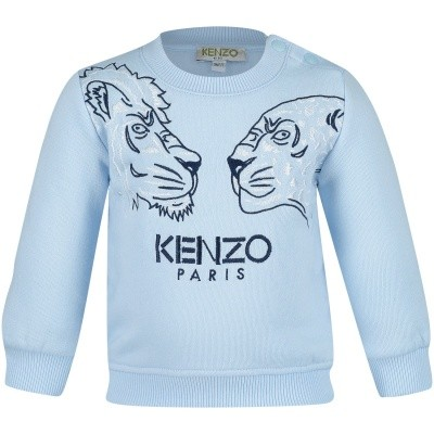 Picture of Kenzo KM15537 baby sweater light blue
