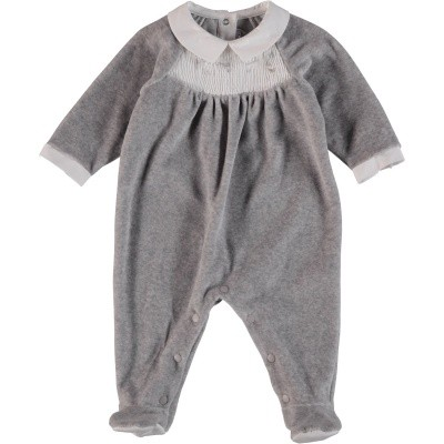 Picture of Tartine et Chocolat TM54091 baby playsuit grey