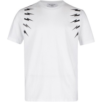 Picture of Neil Barret 018628 kids t-shirt white