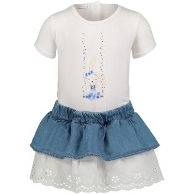 Afbeelding van Liu Jo H18033 baby t-shirt jeans