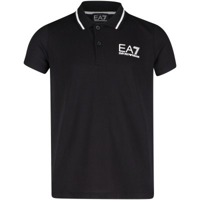 Picture of EA7 3GBF51 kids polo shirt black