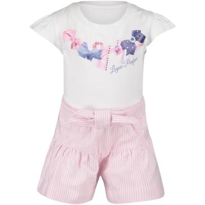Afbeelding van Lapin 81E5404 baby t-shirt+boekrokje wit