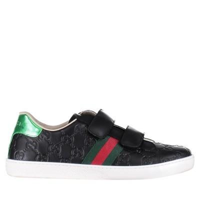 Afbeelding van Gucci 455496 DF720 kindersneakers zwart