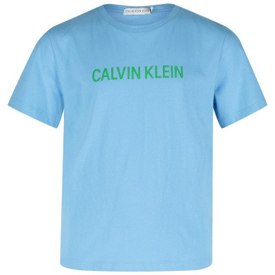 Picture of Calvin Klein IB0IB00137 kids t-shirt light blue