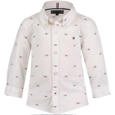 Afbeelding van Tommy Hilfiger KB0KB04376B baby blouse wit