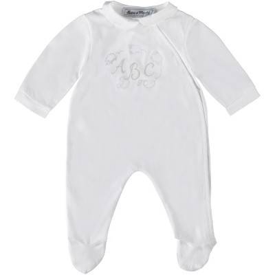 Picture of Tartine et Chocolat TN54021 baby playsuit white