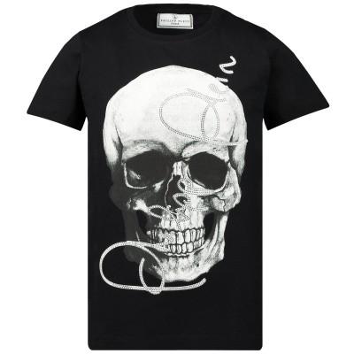 Afbeelding van Philipp Plein BTK0739 kinder t-shirt zwart