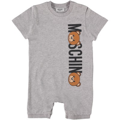 Picture of Moschino MUY022 baby playsuit grey