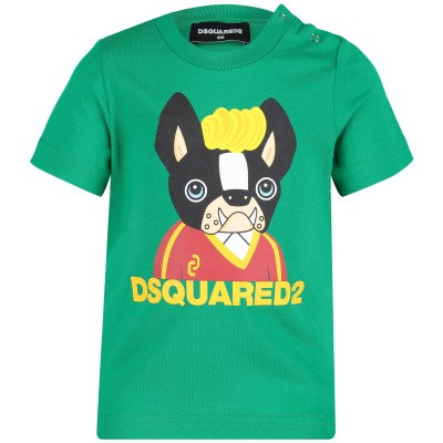 Afbeelding van Dsquared2 DQ03BS baby t-shirt groen