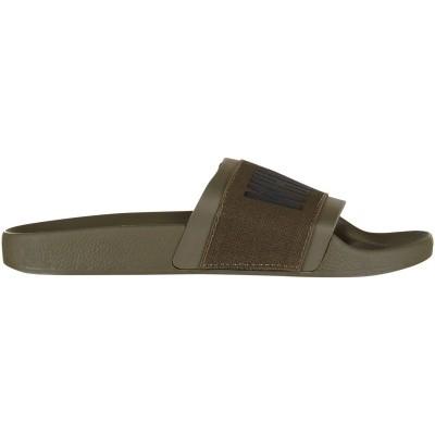 Afbeelding van The white Brand ELASTIC MINIMAL MEN heren slippers army