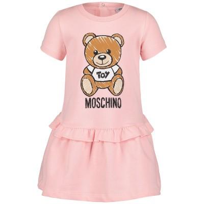 Afbeelding van Moschino MDV074 babyjurkje licht roze