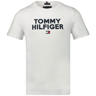 Afbeelding van Tommy Hilfiger KB0KB04992 kinder t-shirt wit