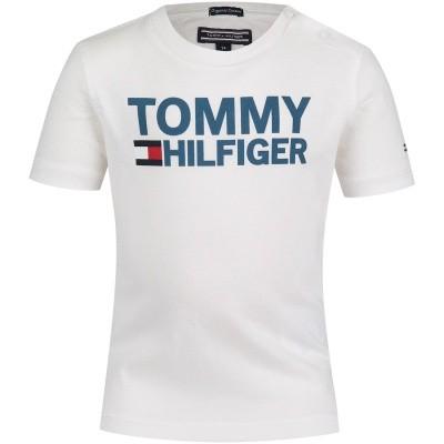 Afbeelding van Tommy Hilfiger KB0KB04078 B baby t-shirt wit