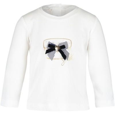 Afbeelding van Liu Jo H68054 baby t-shirt off white
