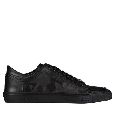 Picture of Iceberg IU3117 mens sneakers black
